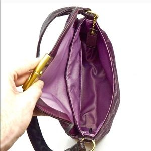 COACH~SMALL SHOULDER BAG~SIGNATURE PURPLE~NEW